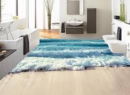 Sie können den vinylboden im wohnzimmer verlegen, können ihn aber auch im badezimmer oder küche einsetzen. Lqwx Custom 3d Stock Zum Meer Wellen Wallpaper 3d Stock Badezimmer Selbstklebende Wasserfeste Tapeten Pvc Bodenbelage Kleber 120 Cmx 100 Cm Amazon De Baumarkt