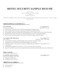 Security Resume Amazing Security Resume Example Security Resume Example Security Officer