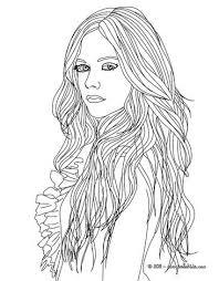 Fashion Coloring Pages Avril Lavigne Fashion Designer Coloring Pages