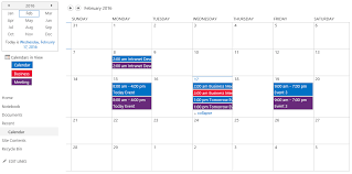 Online Office Calendar Configuring Calendar Overlay To Display Different Color For Each