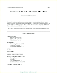 Basic Business Plan Template Startup Business Plan Example