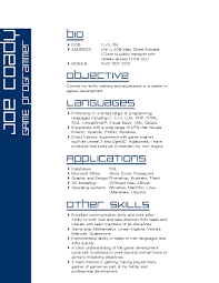 Game Developer Resume Interactive Games Design Developer Web Programmer Resume Samples 5