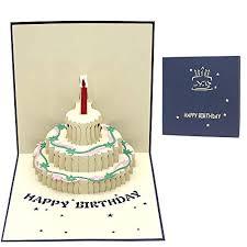 New 3d Birthday Cake Card Handmade Birthday Greetings Cards Romantic