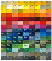 Full Color Chart Colour Chart Awesome Colour Chart 12816