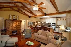 Living Room Furniture Northern Va Traditional Cottage Kitchen Living Room Design Vaulted Beam