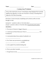 Figurative Language Chart Printable Figurative Language Worksheet 1 Worksheet Idea Template