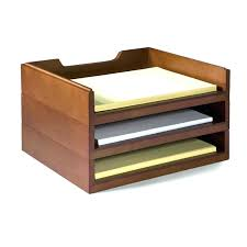 small wooden desk organizer office hanging desktop drawer
