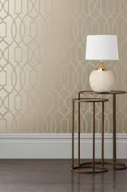 Small Picture Buy Champagne Surface Print Lattice Geo Wallpaper from the Next UK