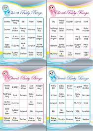 Printable Baby Shower GamesBaby Shower Bingo Cards Printable