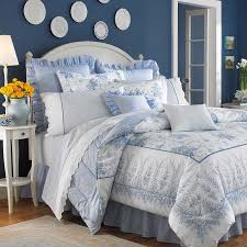 laura ashley comforter sets queen lifestyles sophia set blue 2