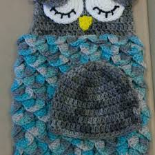 Free Owl Cocoon Crochet Pattern Adorable Owl Baby Blanket CreativeDirections