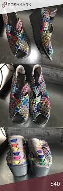Bernie Mev Shoes Size Chart Bernie Mev Wedge Grey Multicolored Woven Shoe Size 37