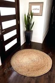 round jute rug natural and brown farmhouse 4x4 rugs outdoor area by mountain