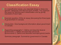 essay writing  4 classification essay