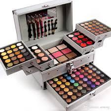 full makeup set various colors makeup suits universal cosmetic bag professional makeup artist professional box with brush mirror