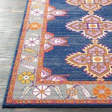 blue and orange rug navy pink gray area rugby womens blue and orange rug