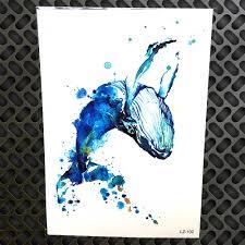 акварель кит временные татуировки стикеры для для женщин пикантные средства