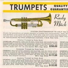 Rudy Muck Trumpet Mouthpiece Chart Rudy Muck Joseph Muck Co New York Brass Instrument History