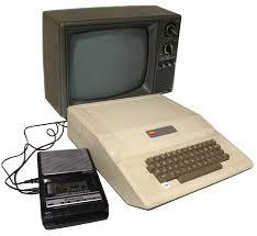apple 2gs. apple ii, panasonic rq-2102 cassette, and tv 2gs