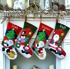 christmas stockings with names. Simple With Embroidered Christmas Stocking Santa Snowman Applique With Stockings Names T