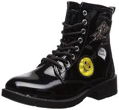 bebe kids bebe girls patent combat boots with patches 4 black com