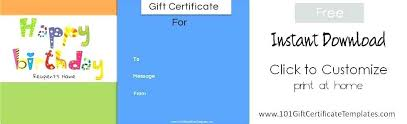 Personalized Gift Certificates Template Free Simple Printable Gift Voucher Template Free Certificate Templates