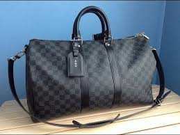 louis vuitton holdall. unboxing a louis vuitton keepall 45 damier graphite holdall i