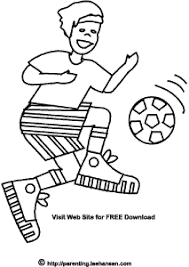 Small Picture Soccer Boy Coloring Page