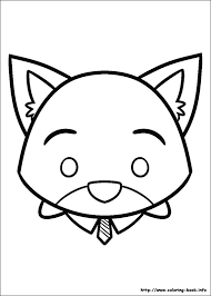 Tsum Tsum Coloring Pages Color Bros