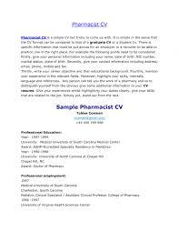 Retailarmacist Cv Sample Resume Format India Locum Australia With