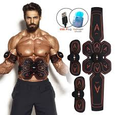 ABS/EMS <b>Rechargeable Wireless Abdominal</b> Muscle Stimulator Belt ...
