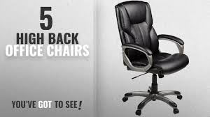 top 10 high back office chairs 2018 basics high back executive chair black