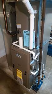 york gas furnace. removal of an old gas furnace and a/c system. installation a new york high-efficiency 13 seer unit e