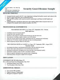 Security Supervisor Resume Mesmerizing Security Guard Resume Sample Luxury Security Supervisor Resume
