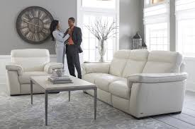White Leather Living Room Design Decorate With Bright White Contemporary Natuzzi Leather