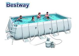 56466 Bestway 549x274x122cm Rectangular Pool Set 18x9x48 Steel