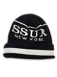 Ssur Size Chart Ssur New York Beanie One Size Fits All Black White At