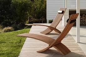 modern patio furniture. Modern Outdoor Furniture Chic Sculptural Teak Loungers For A  Space GQFUOPX Patio R