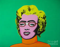 marilyn monroe as ugly betty braces bushy eyebrows taped nerd gl andy warhol