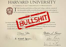 a fake harvard diploma costs boing boing