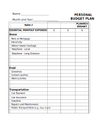 How To Plan A Personal Budget Excel Monthly Budget Template