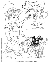 Small Picture Fall Coloring Pages Kids Hay ride Coloring Page Sheets of the