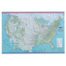 Us Vfr Wall Planning Chart Pilots General Reference Wall Map Rolled