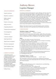 Logistics Management Resume Resume For Logistics Sales Logistics Lewesmr