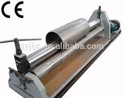 sheet metal roll 3 roll sheet metal bending machine used in tanker making industry