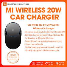 Bộ sạc không dây ô tô Xiaomi Mi Charger Wireless 20W - Hàng chính hãng  Digiworld