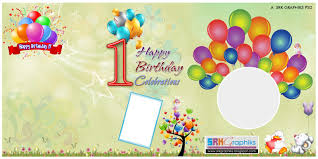 birthday banner design photoshop template for srk graphics birthday creation vector image template