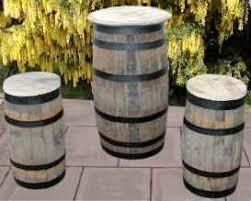 wood barrel furniture. Rustic Barrel Tables Wood Furniture