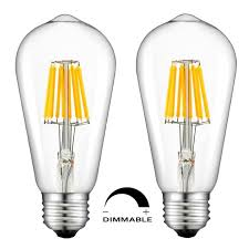 led candelabra bulb dimmable 6w chandelier e26 base st64 st58 led bulb