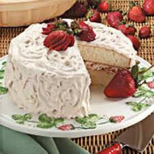 Fruit Filled White Cake